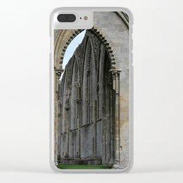 Glastonbury Abbey 2 Clear iPhone Case