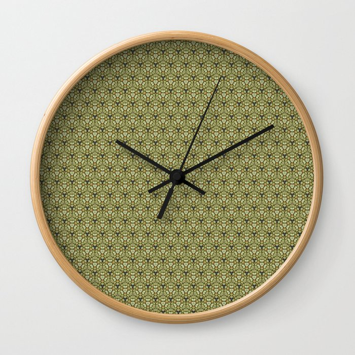 Yellow Apples Pattern Wall Clock