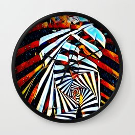 6805-LB Two Become as One Love Energy Abstraction Wall Clock