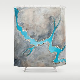 Sedimentary Topography Extended 2 Shower Curtain