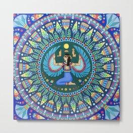 Egyptian Goddess Isis Metal Print