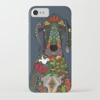 great dane iPhone & iPod Cases featuring Great Dane love midnight by Sharon Turner