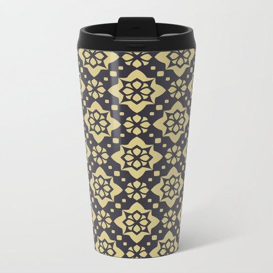 Abstract geometric Pattern 89 Metal Travel Mug