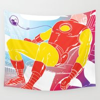 stark Wall Tapestries featuring God Yes! says Tony Stark by Hoboxia