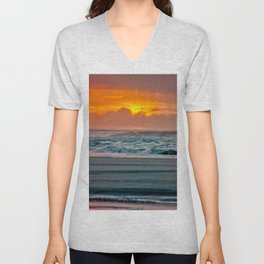 Ocean Sunset - Pacific Coast Highway 101 Unisex V-Neck