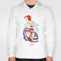 france Hoodies featuring France by Melissa Ballesteros Parada