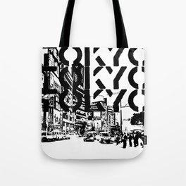 Tokyo Japan Black White Tote Bag