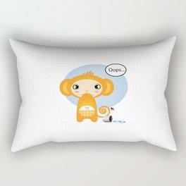 Oopsie Monkey Rectangular Pillow