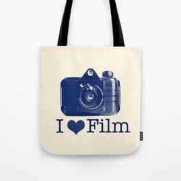 I ♥ Film (Blue/Peach) Tote Bag