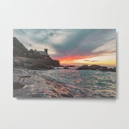 Orographic waves at sunset Metal Print
