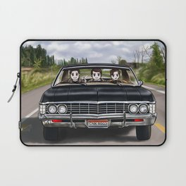 Dean and Cas teaching Jack to drive Baby Laptop Sleeve