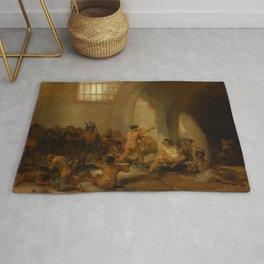 "Francisco Goya ""Casa de locos (The Madhouse)"" Rug"