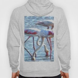 Flamingos Eating Watercolor Hoody