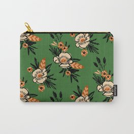 Emerald Blooms Carry-All Pouch