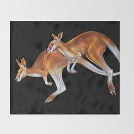 Kangaroos Throw Blanket