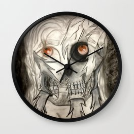 Face Underneath Wall Clock