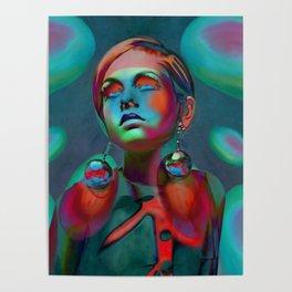 """Psychedelic Pop Fantasy"" (Twiggy II) Poster"