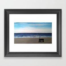 wagon on the beach Framed Art Print