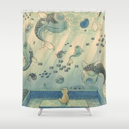 Blue Hours Shower Curtain