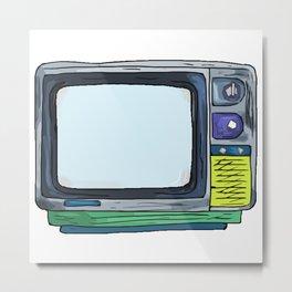 80's TV Monitor Metal Print