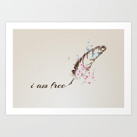 i am free Art Print