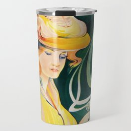 Vintage Art Nouveau Cafe Ad Travel Mug