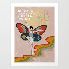 Remember the pleasure Art Print