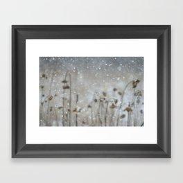 Sunflowers in the Snow Framed Art Print