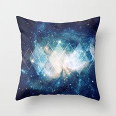 Shining Nebula - Blue Throw Pillow