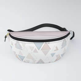Geometric pattern , pastel triangles Fanny Pack