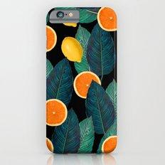 Lemons And Oranges On Black iPhone 6 Slim Case