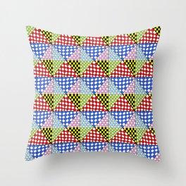 Symetric triangle 3 -vichy, gingham,strip,triangle,geometric, sober,tartan,mandala Throw Pillow