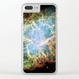 Crab Nebula Space Decor Clear iPhone Case