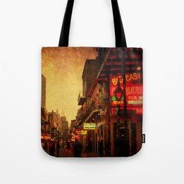 Bourbon Street Grunge Tote Bag