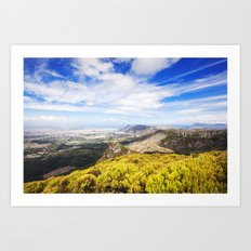 View of Silvermine and False Bay Art Print