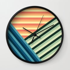 Stripes Are Us Wall Clock