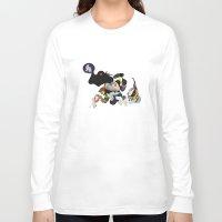 rhino Long Sleeve T-shirts featuring Rhino by Maria Taari