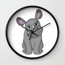 Rare Rhino Wall Clock