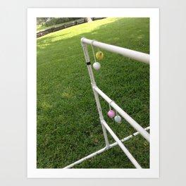 Ladder Golf Art Print