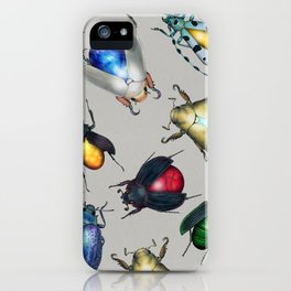 Colorful Mineral Beetles iPhone Case