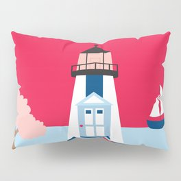 Cape Cod, Massachusetts - Skyline Illustration by Loose Petals Pillow Sham