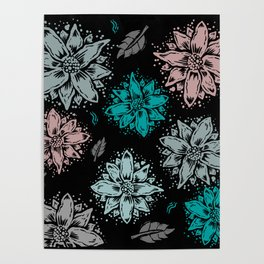 Delicate Flowers Poster