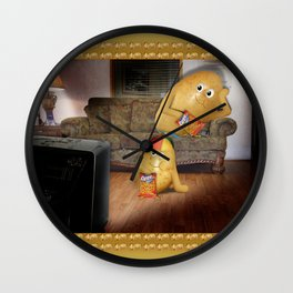 Father And Son Couch Potatoes Wall Clock