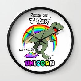 T-Rex lunch Wall Clock