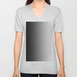 Black to White Vertical Linear Gradient Unisex V-Neck