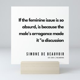 25      Simone De Beauvoir Quotes   190605 Mini Art Print