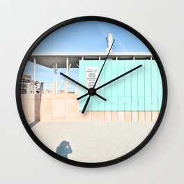 Blue House - Urban Photography Wall Clock