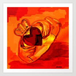 The claddagh ring  Art Print