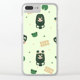 Best Frog Girl Clear iPhone Case