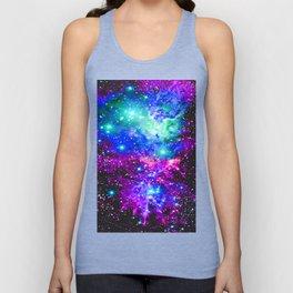 Fox Fur Nebula Galaxy Pink Purple Blue Unisex Tank Top
